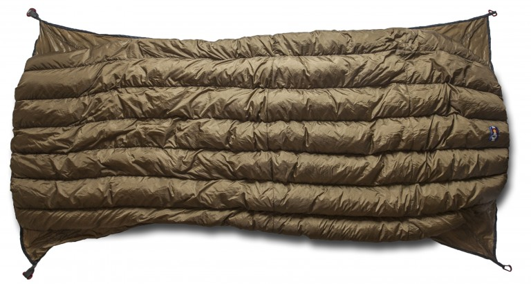 Brown Lynx underquilt bottom view