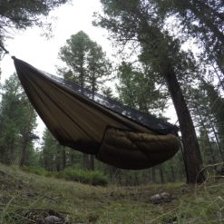 Brown Yeti underquilt on Blackbird XLC hammock