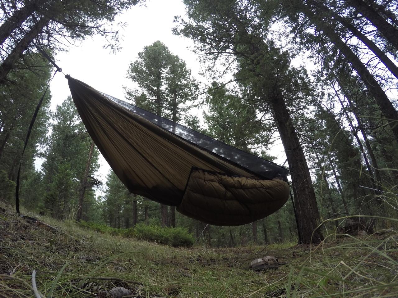 brown yeti underquilt on blackbird xlc hammock yeti underquilts for wilderness hammocks  rh   warbon outdoors