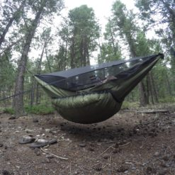 Green Yeti underquilt on Blackbird XLC hammock