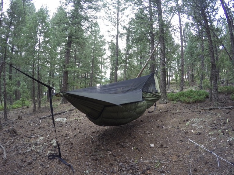 Green Yeti underquilt on Blackbird XLC hammock