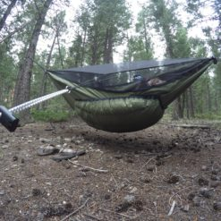 Green Yeti Underquilt on Blackbid XLC hammock