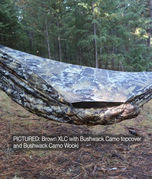 Blackbird xlc hammock with Bushwack camo wooki underquilt