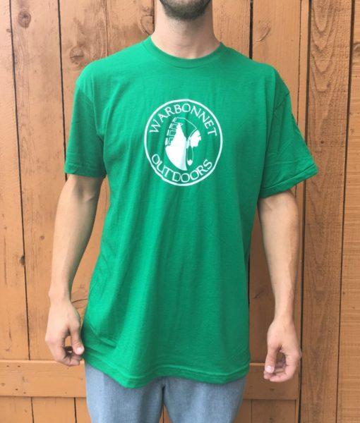 Green Warbonnet Outdoors circle logo t shirt