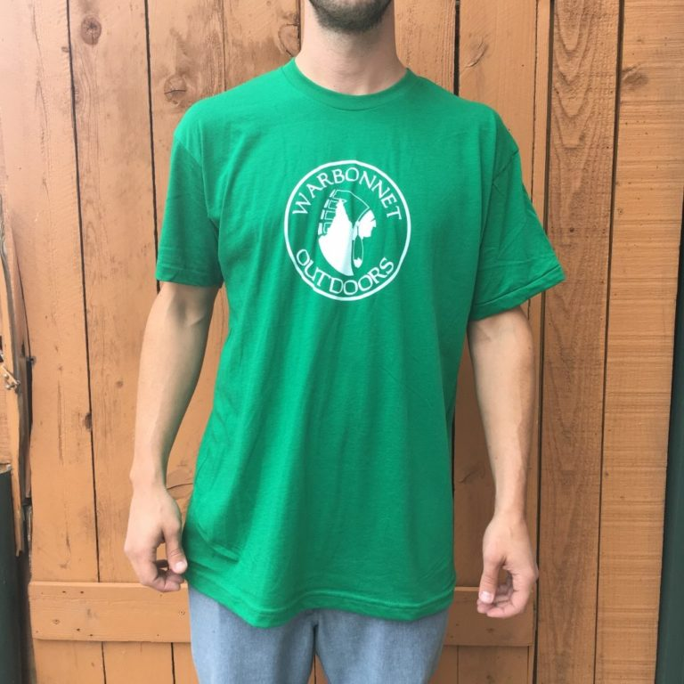 Green Warbonnet Outdoors circle logo t shirt