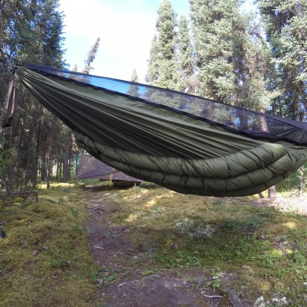 Green Wooki underquilt side view