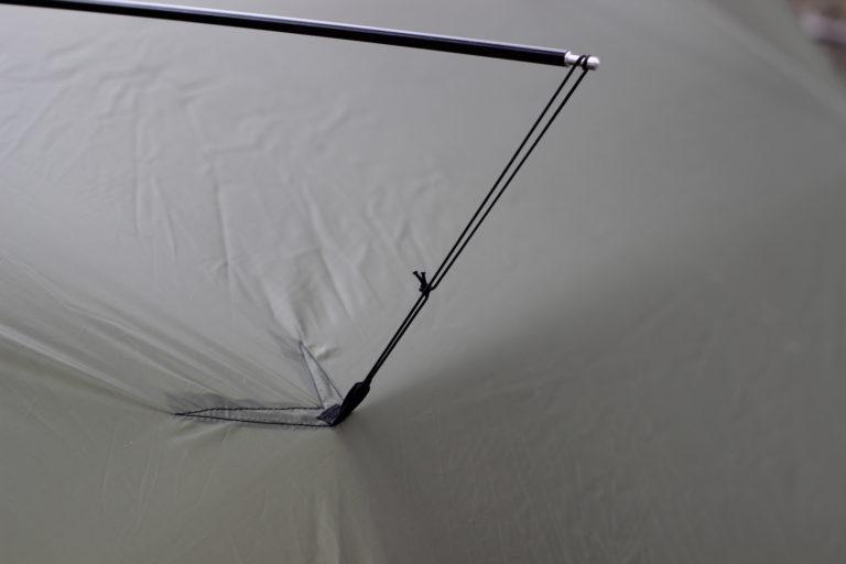 Tarp pole mod kit with cord