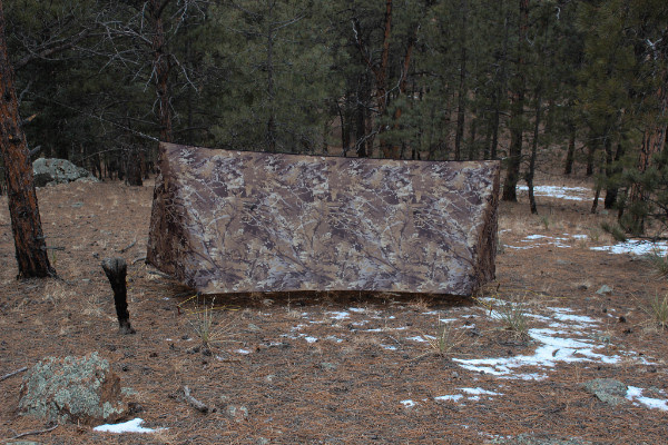 Bushwack camo superfly tarp side view