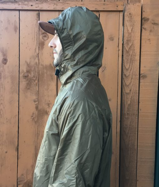 Brown Stash jacket with tarp fabric