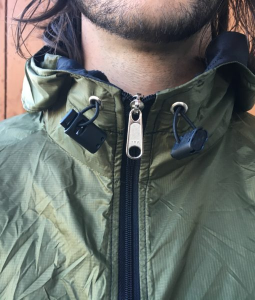 Stash jacket hood pulls with cordlock