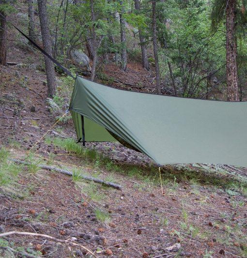Side view of Minifly hammock tarp