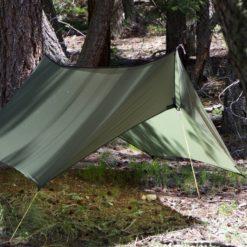 Closeup of Minifly hammock tarp with doors closed