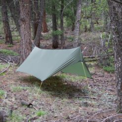 Minifly hammock tarp with doors closed