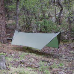 Minifly hammock tarp with doors open