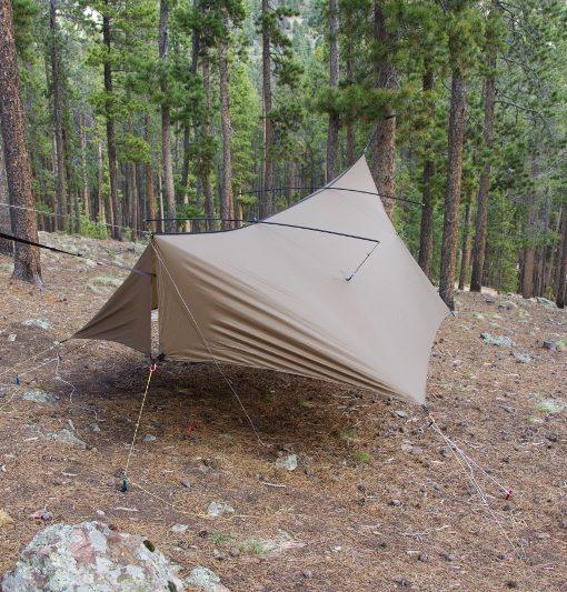 Thunderfly tarp with pole mod kit