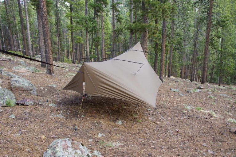 Thunderfly tarp with pole mod kit