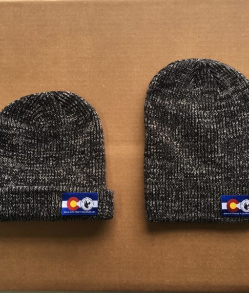black warbonnet beanie with flag logo patch