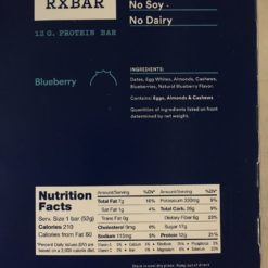 RX Bar Ingredients Blueberry