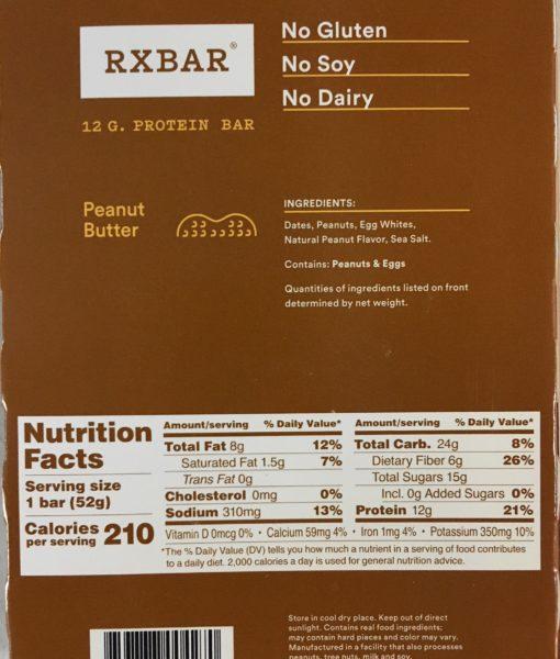 RX Bar Ingredients Peanut Butter