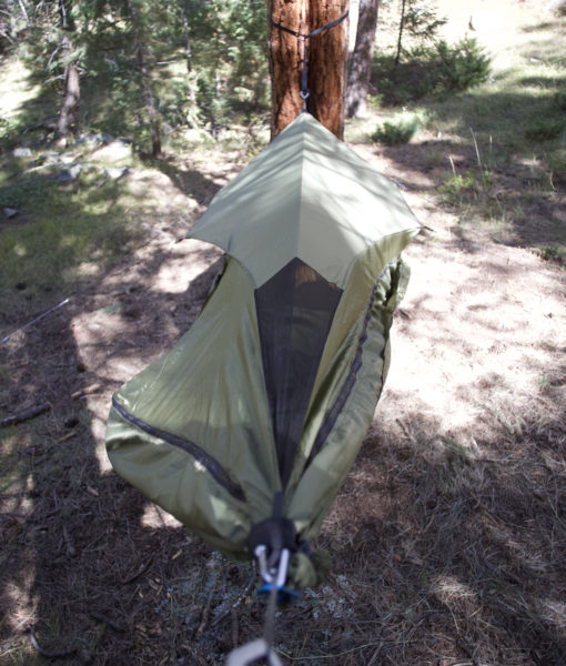 Winter Hammock Topcover foot end vent