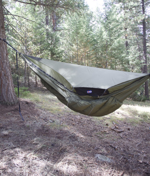 Green Winter Hammock Topcover side vent
